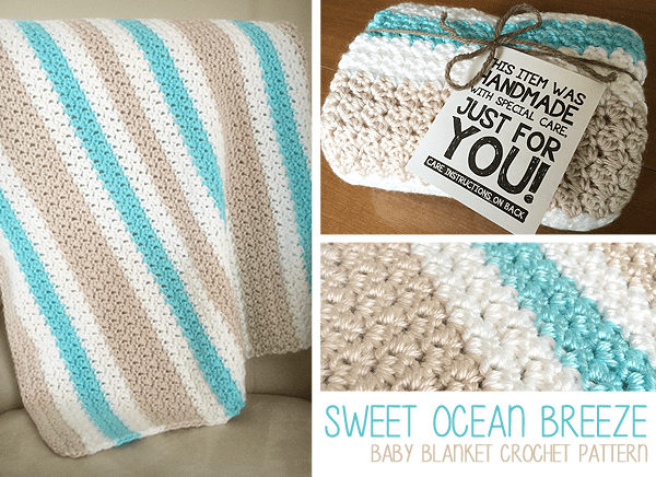 Sweet Ocean Breeze Baby Blanket Crochet Pattern By Little Monkeys