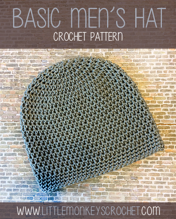 Free Mens Beanie Crochet Pattern By Little Monkeys Crochet
