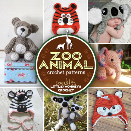 Roundup: 7 Wildly Fun Zoo Animal Crochet Patterns | Little Monkeys Crochet
