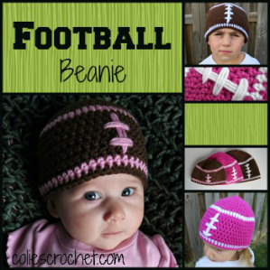 Football Beanie Crochet Pattern | Colie's Crochet