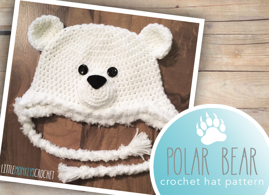 Polar Bear Hat Free 6 12m Pattern Little Monkeys Crochet