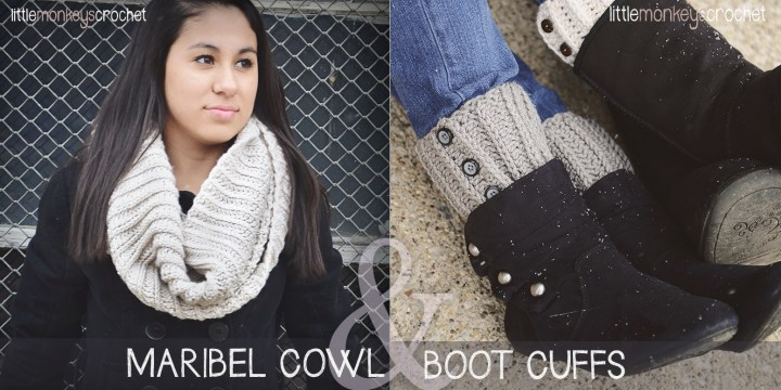 Maribel Cowl & Boot Cuffs Crochet Pattern  |  a free crochet pattern by Little Monkeys Crochet