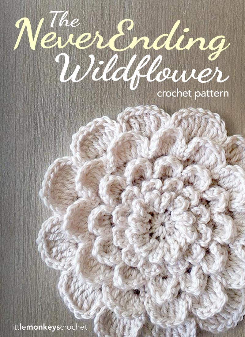 The Never Ending Wildflower | Little Monkeys Crochet