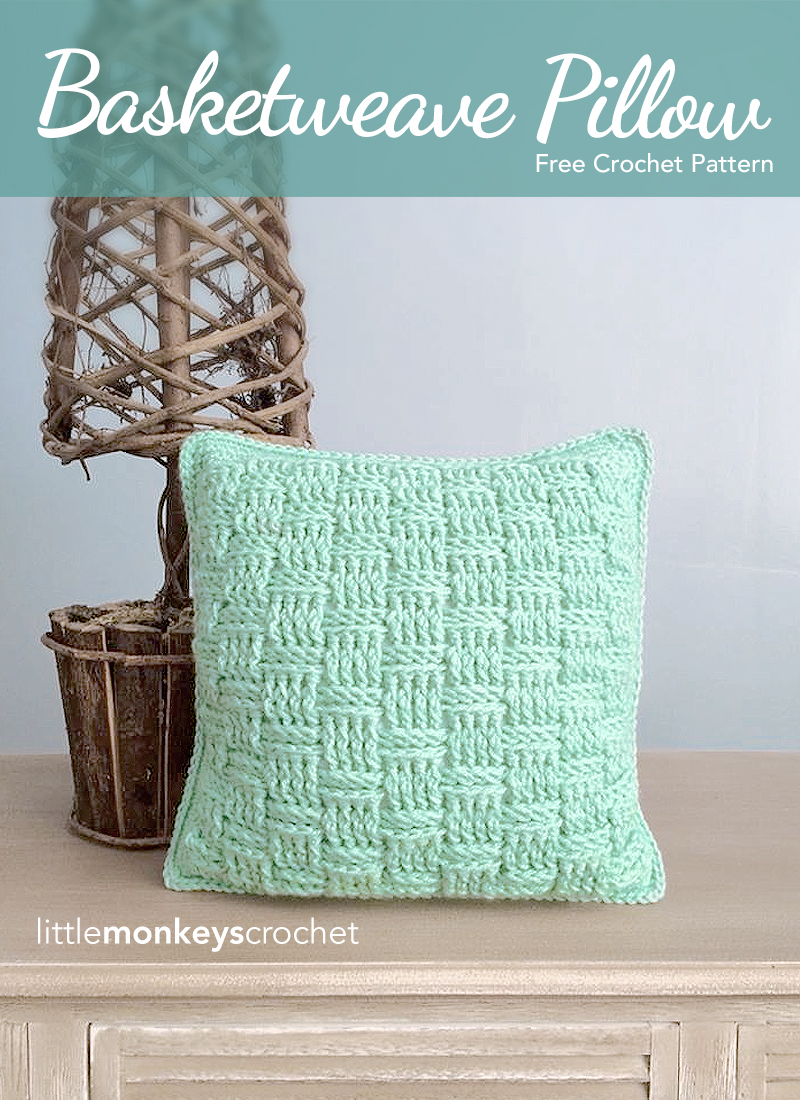 Basketweave throw pillow free pattern little monkeys crochet disclosure this page may contain affiliate links which help me cover the cost of publishing my blog should you choose to make a purchase at no additional bankloansurffo Gallery