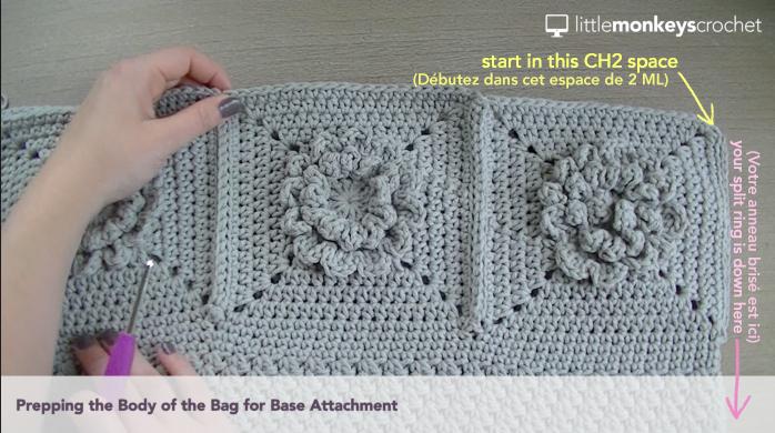 Wildflower Shoulder Bag CAL | Free Crochet Purse Pattern by Little Monkeys Crochet