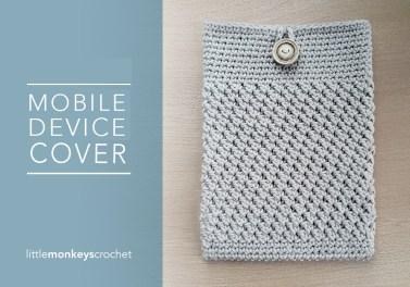 iPad & Tablet Cover | Free Crochet Pattern by Little Monkeys Crochet