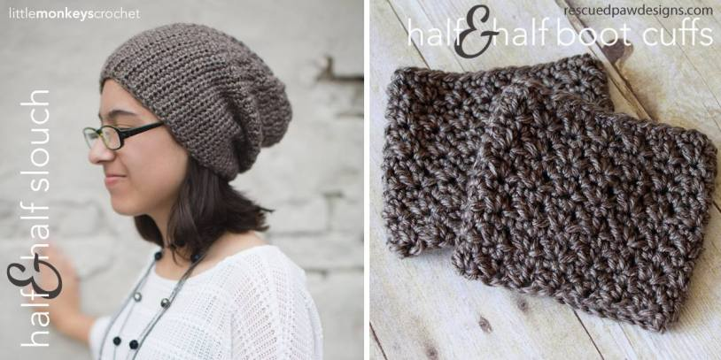 Half & Half Slouch Crochet Hat | Free Slouchy Hat Crochet Pattern by Little Monkeys Crochet
