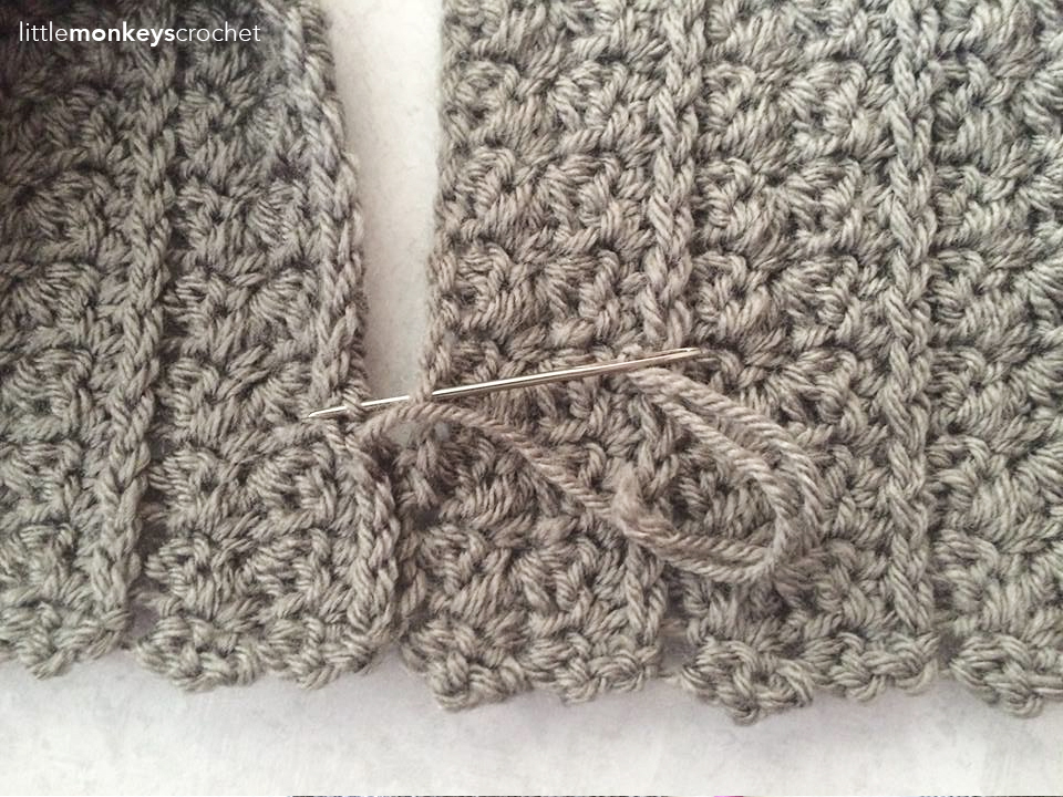 Yenni Infinity Fringe Scarf Crochet Pattern | Little Monkeys Crochet