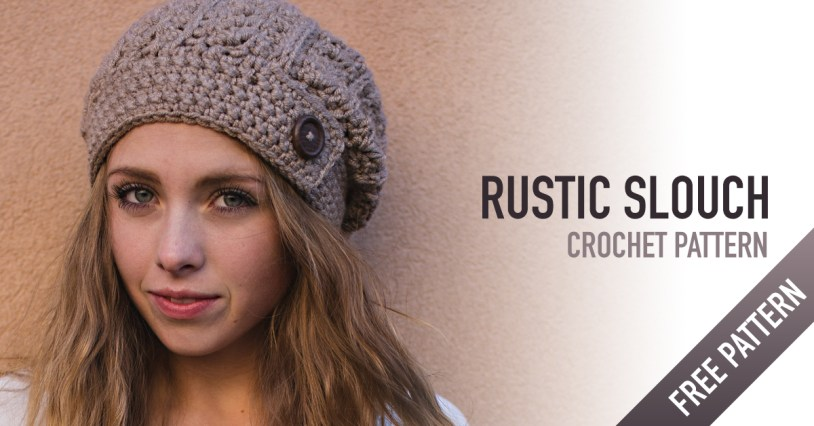 Rustic Slouch Crochet Hat Pattern  |  Free Slouchy Hat Crochet Pattern by Little Monkeys Crochet