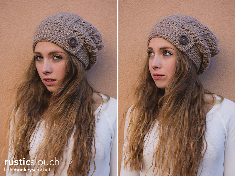Rustic Slouch Hat Crochet Pattern Little Monkeys Crochet