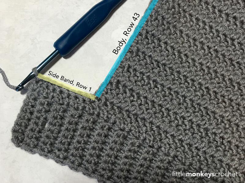Herringbone Buttoned Cowl Crochet Pattern  |  Free Cowl Scarf Pattern by Little Monkeys Crochet