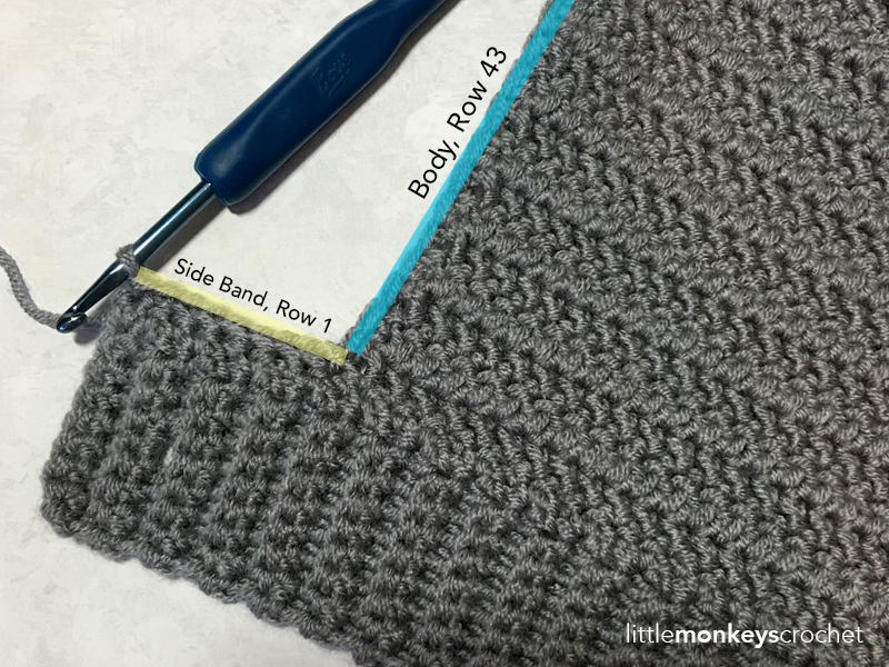 Herringbone Buttoned Cowl Crochet Pattern | Free Cowl Scarf Pattern by Little Monkeys Crochet