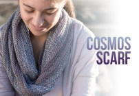 Cosmos Scarf Crochet Pattern  |  Free infinity scarf crochet pattern by Little Monkeys Crochet