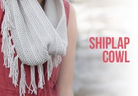 Shiplap Slouch Hat and Cowl Crochet Pattern Set  |  Free slouchy hat and fringe cowl scarf crochet patterns by Little Monkeys Crochet