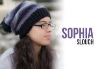 Sophia Slouch Crochet Pattern  |  Free slouchy hat crochet pattern by Little Monkeys Crochet