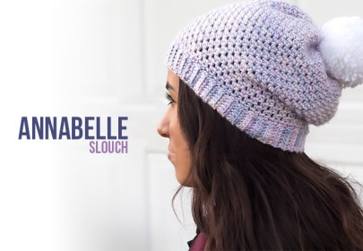 Annabelle Slouch Hat Crochet Pattern  |  Free button slouchy hat crochet pattern by Little Monkeys Crochet