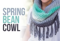 Spring Bean Cowl Crochet Pattern  |  Free crochet cowl scarf pattern by Little Monkeys Crochet | using Lion Brand Mandala Yarn