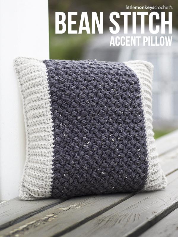 Bean Stitch Accent Pillow