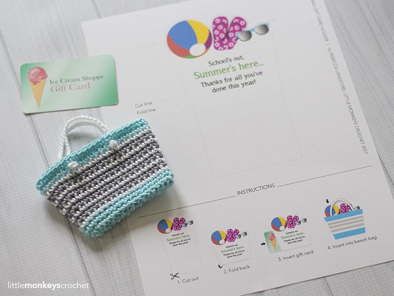 Mini Beach Bag Gift Card Holder | Little Monkeys Crochet