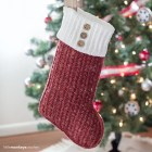 Malia Christmas Stocking | Holiday Stocking Crochet Pattern by Little Monkeys Crochet