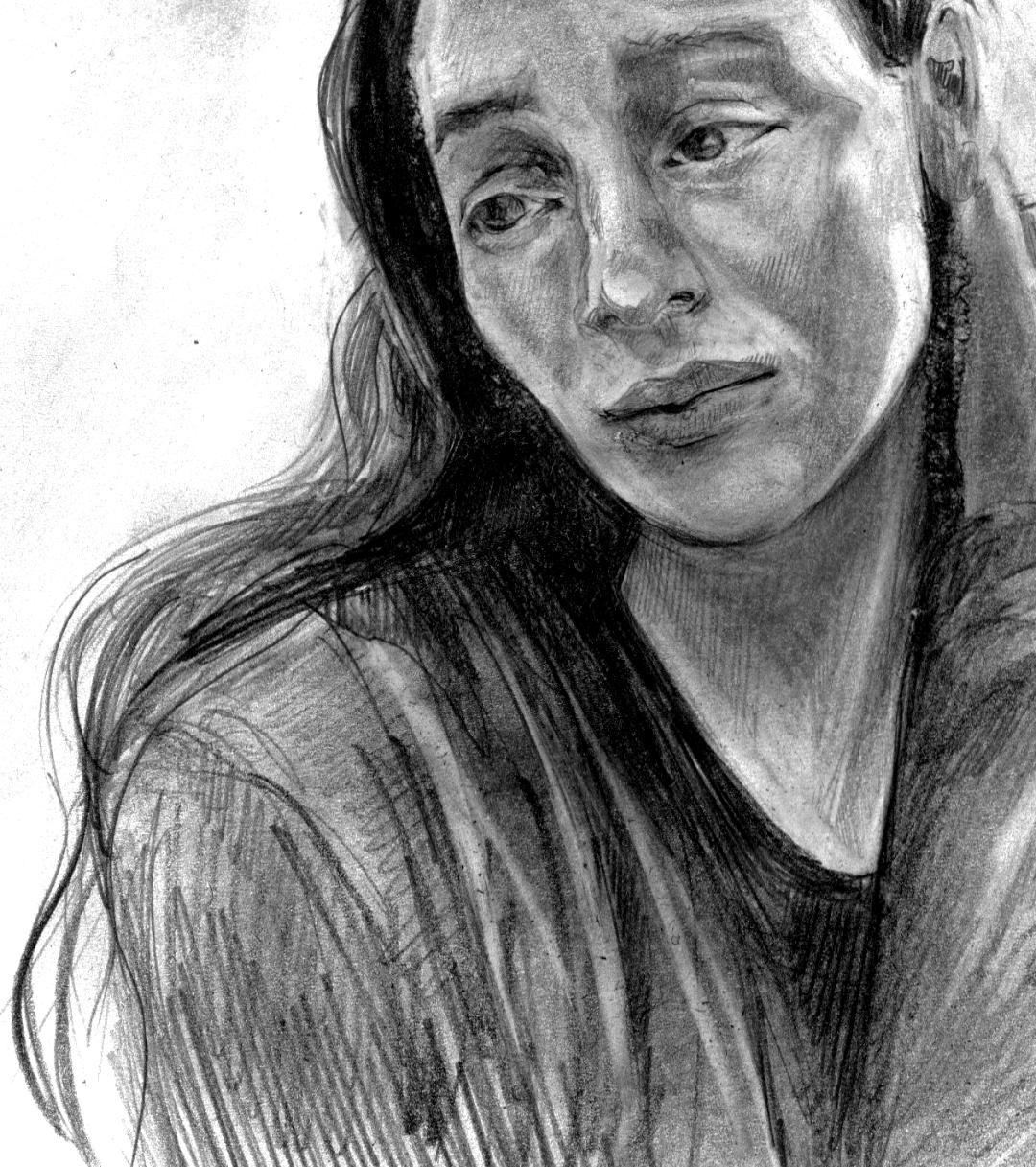 Nicole Little self portrait sadness