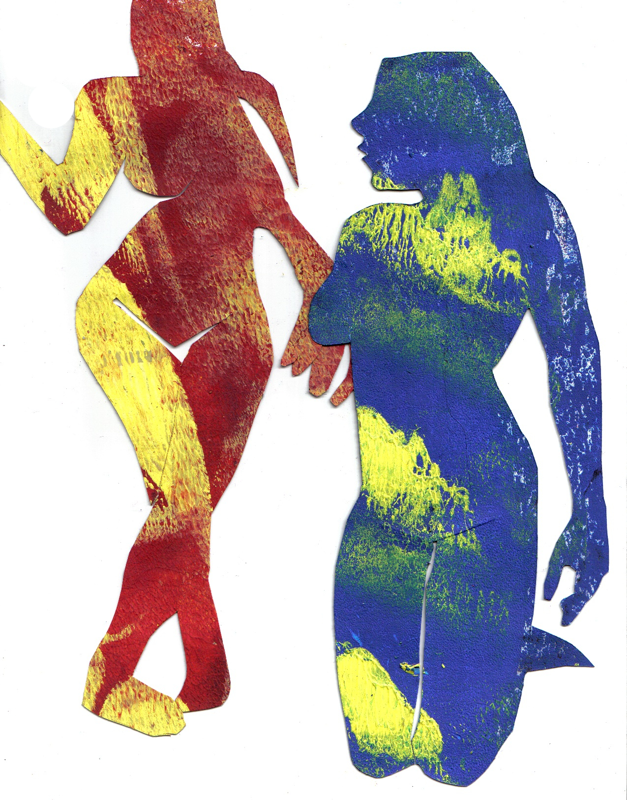 Painted Figure Drawing Cut Out 2