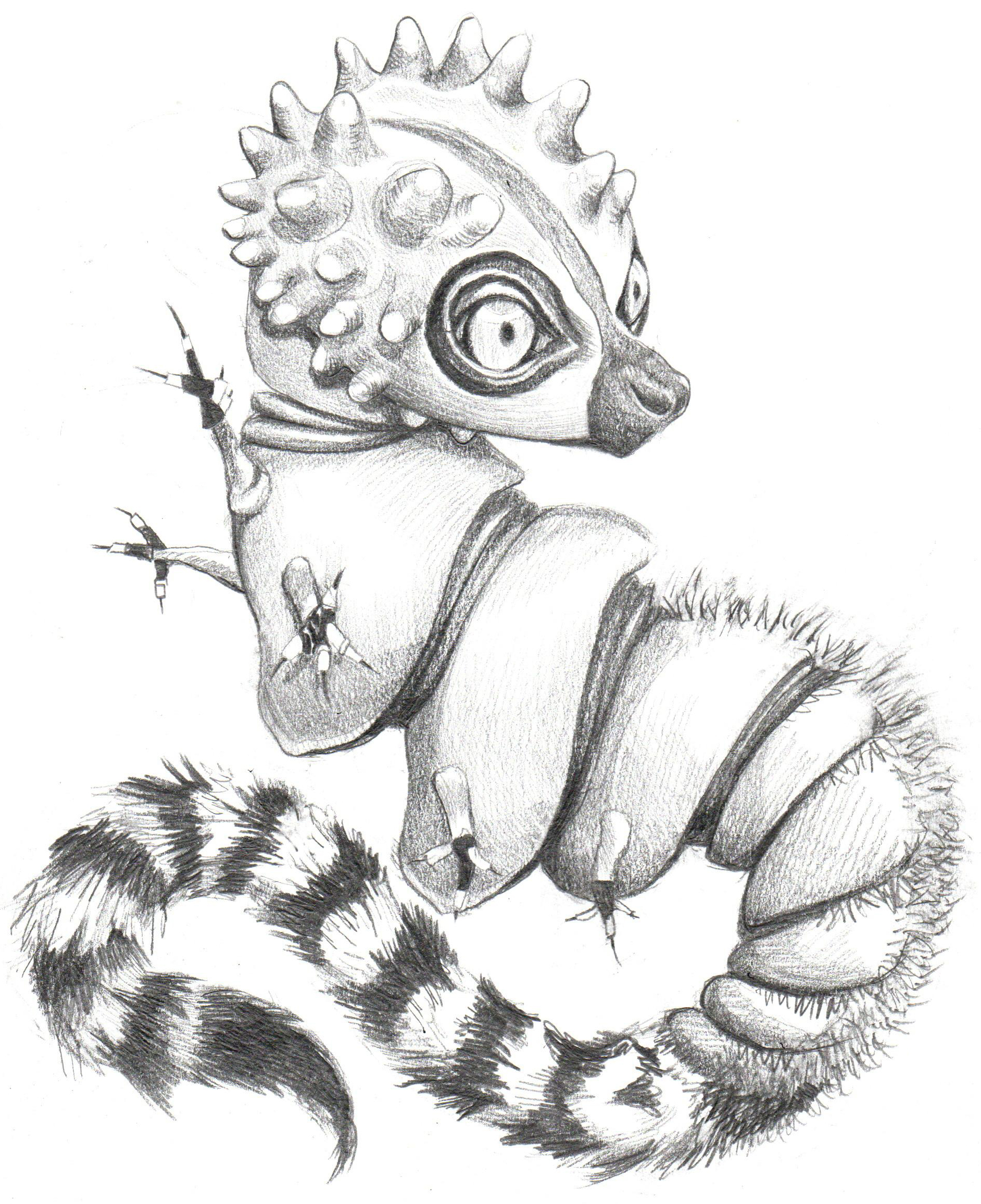 Abomidorables, lemur, caterpillar, animal mash up, Nicole Little blog, Nicole Little art, fusion beast, fusion beasts