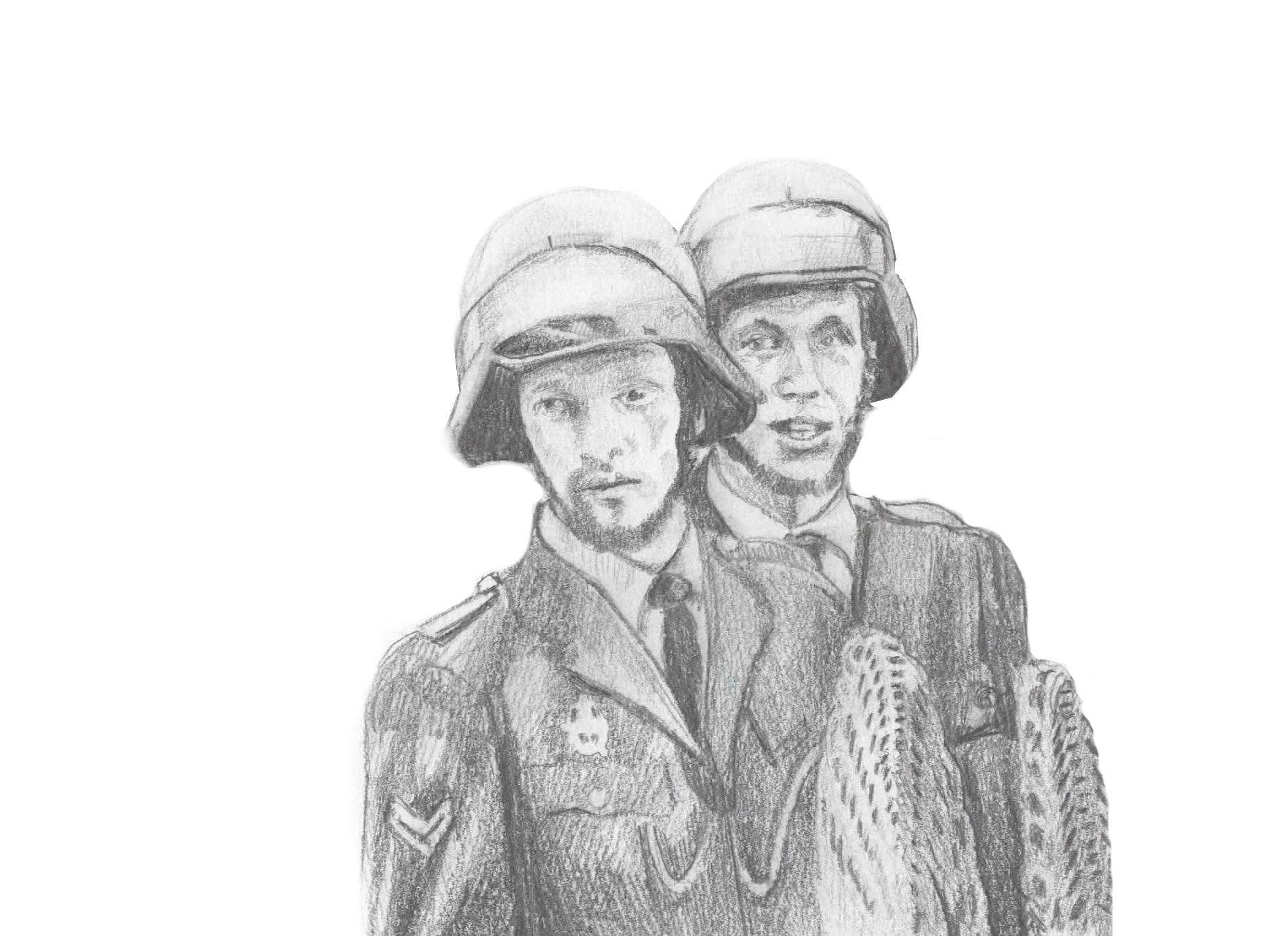 Community Member - Mobiele eenheid verwijdert woonwagenbewoners uit kamp Osdorp - wicker shields - William Diepraam 1973