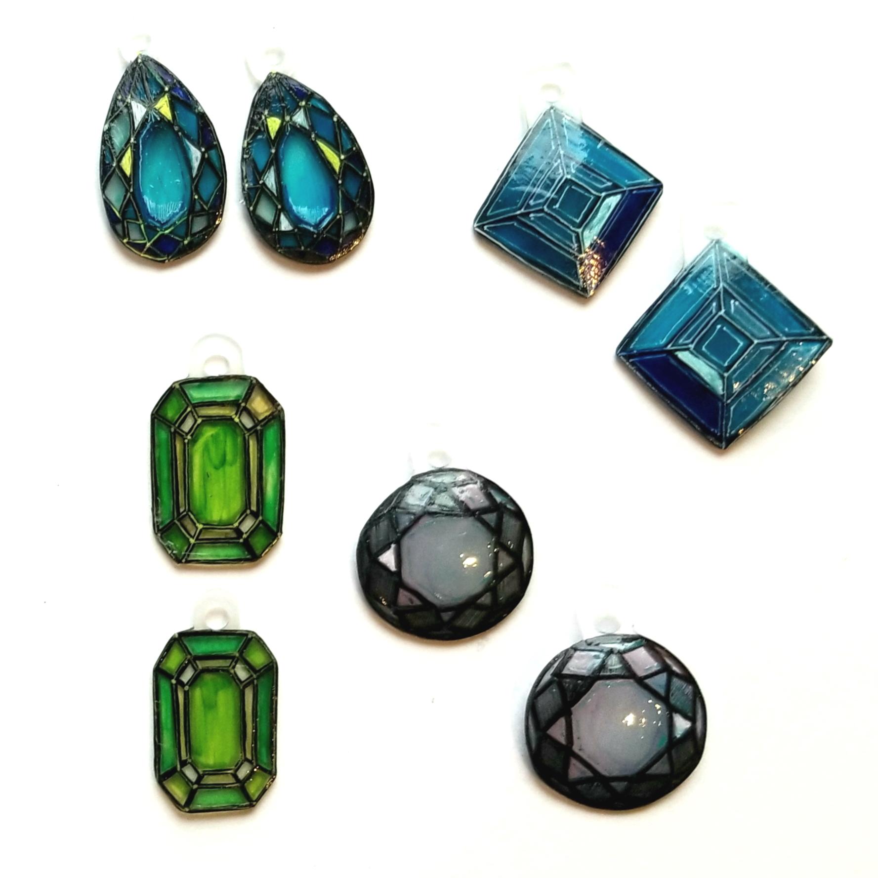 Gems earrings, shrunk