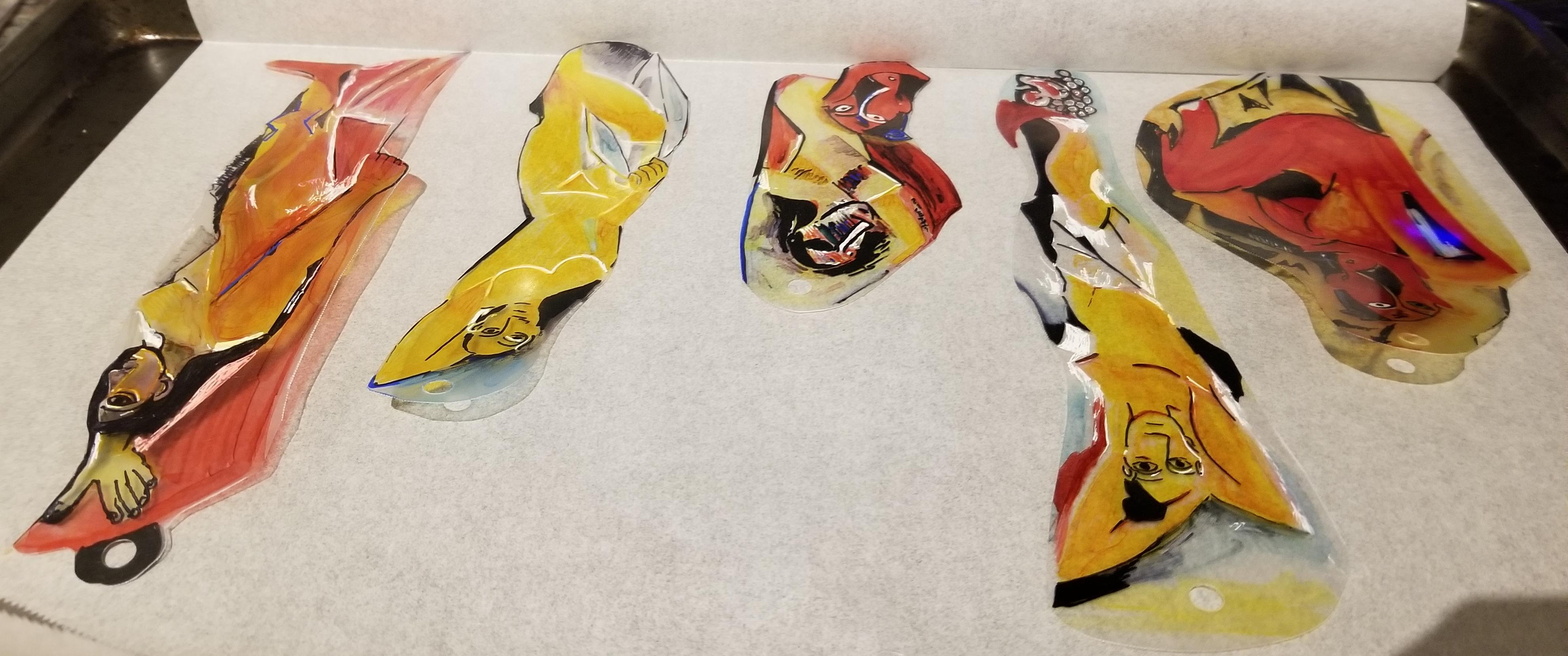 Pablo Picasso Les Demoiselles d'Avignon On the Tray 2
