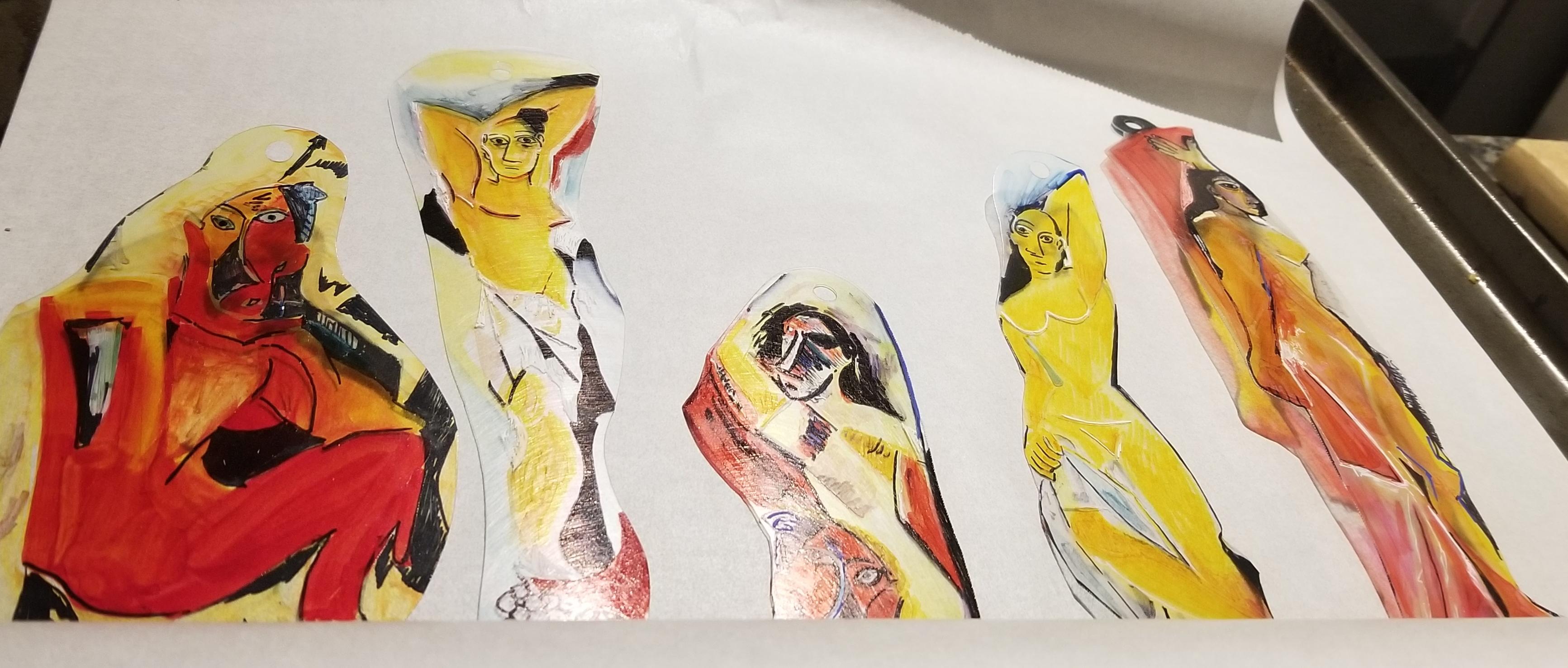 Pablo Picasso Les Demoiselles d'Avignon On the Tray 3