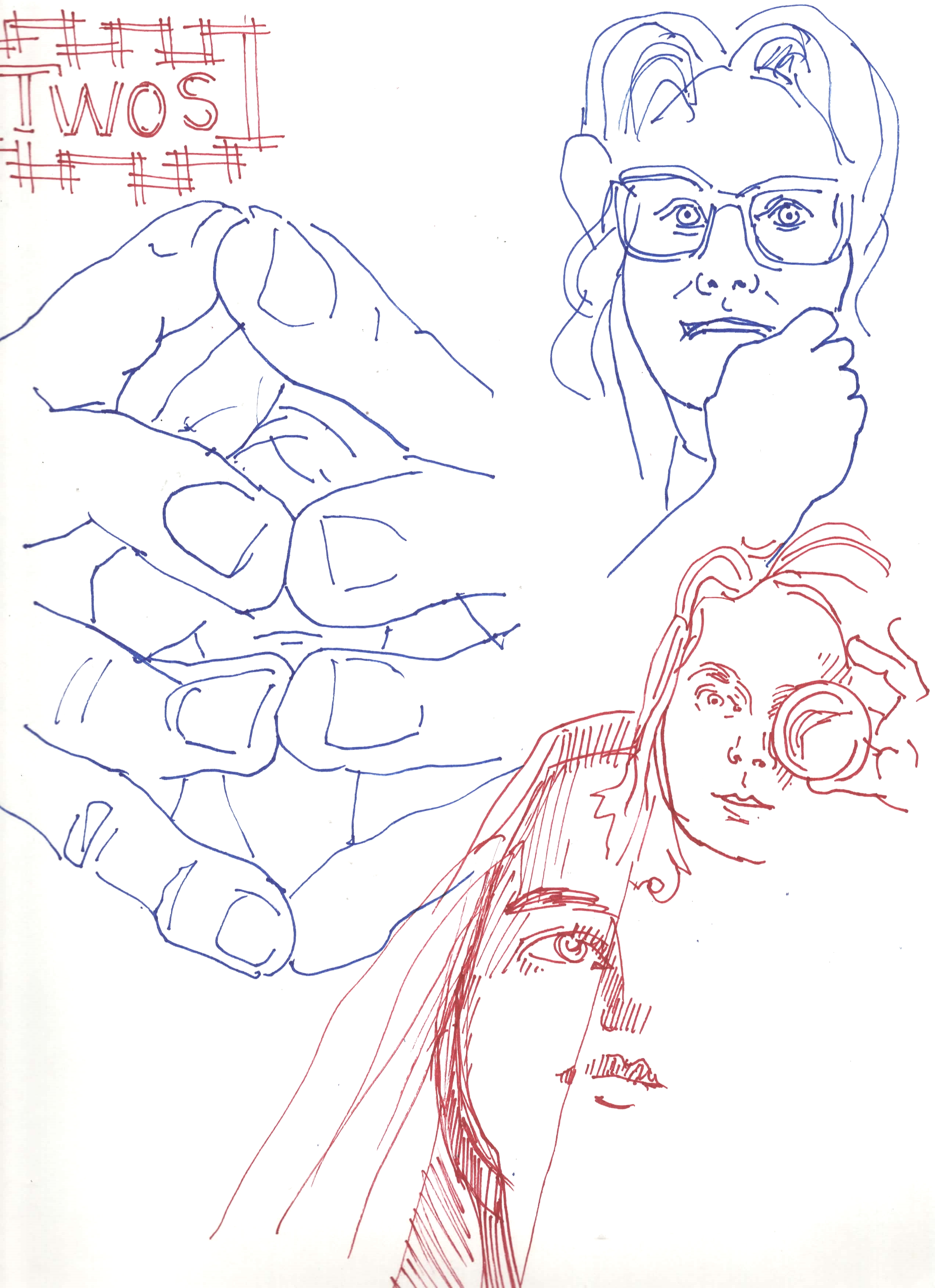 Two Minute Sketches of Gila and Kim