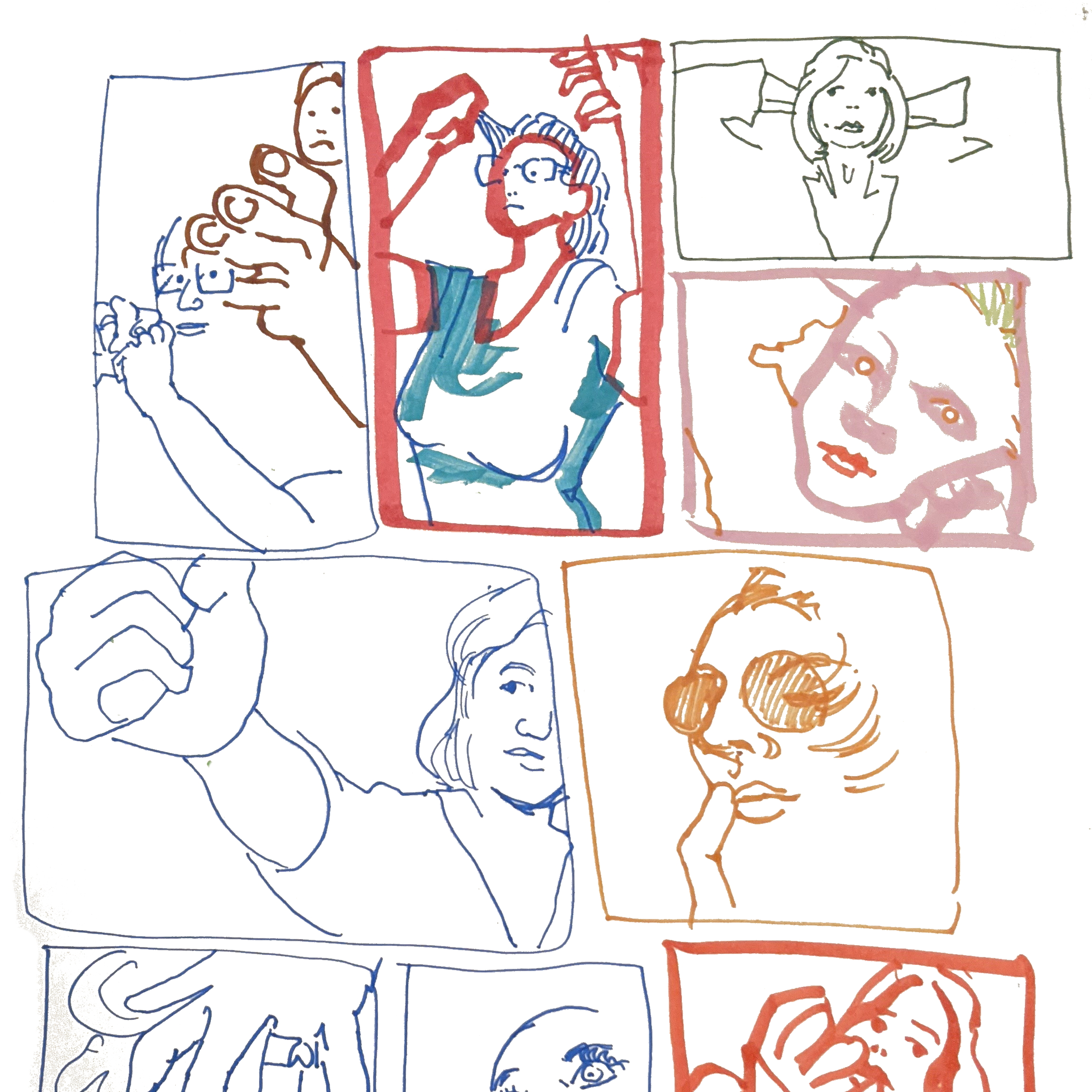 Two Minute Portraits - Gila in the Red Rectangle