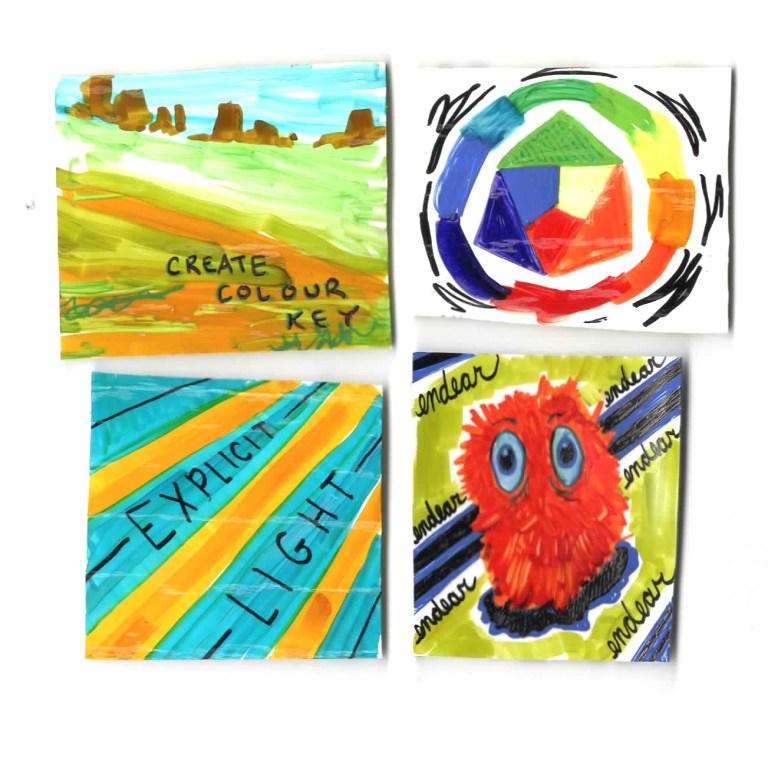 create colour key, explicit light, endearing creatures, littleNEO, oblique strategies