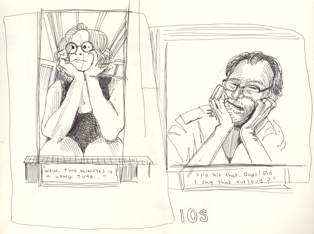 10 minute drawings comics of Gila and Brian