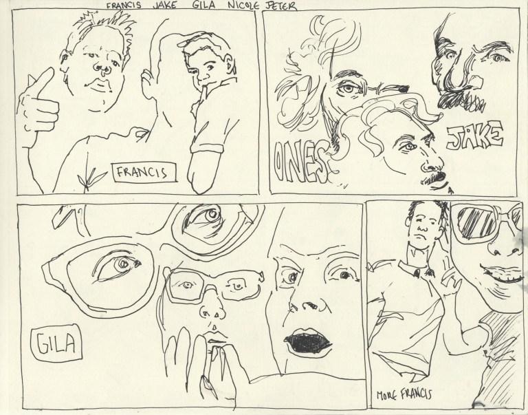 one minute portrait drawings