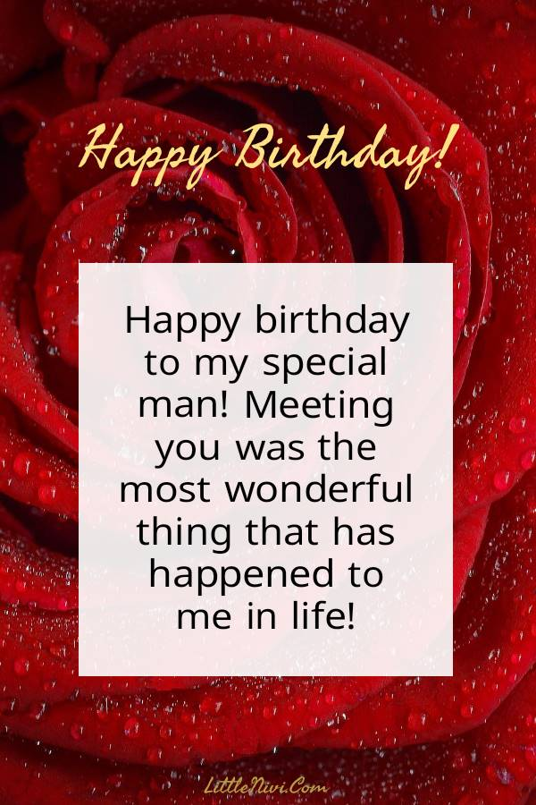 110 Romantic Birthday Wishes For Him Messages Wishes And Quotes Littlenivi Com
