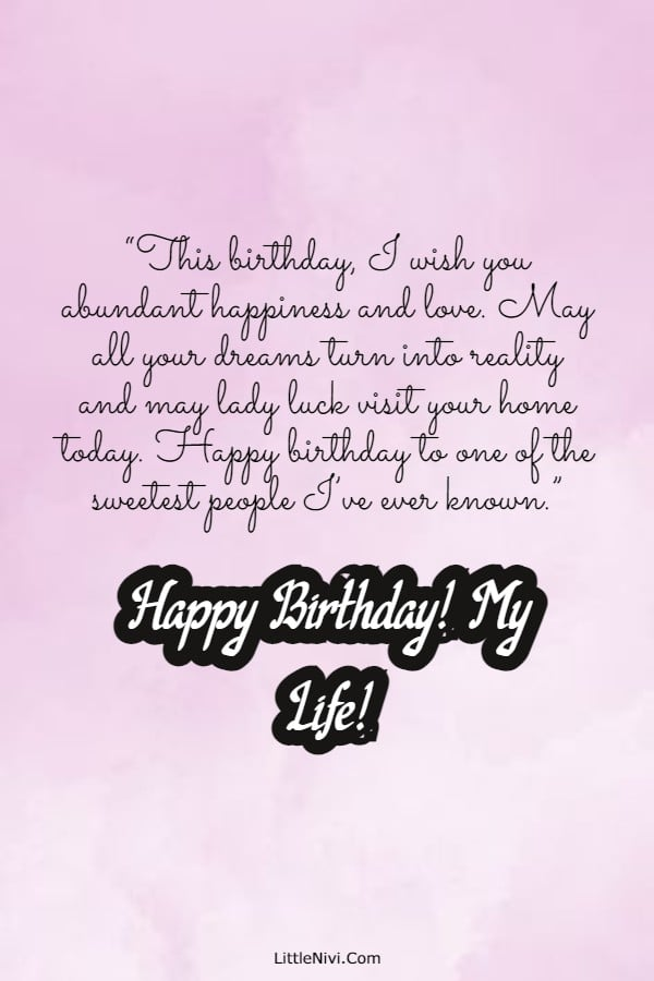 185 Romantic Birthday Wishes For Her Cute Happy Birthday Quotes For Her Best Happy Birthday Text Messages For Her Littlenivi Com