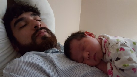 Father and daughter.