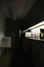 This is the kitchen. Some people may wonder why I share dark pictures. When I photograph a birth center, I envision myself in labor. I think of how I would use the space to inspire me, and sometimes that means darkness.