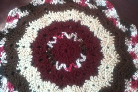 Interior Crochet Round Ripple Afghan 4k Pictures 4k Pictures