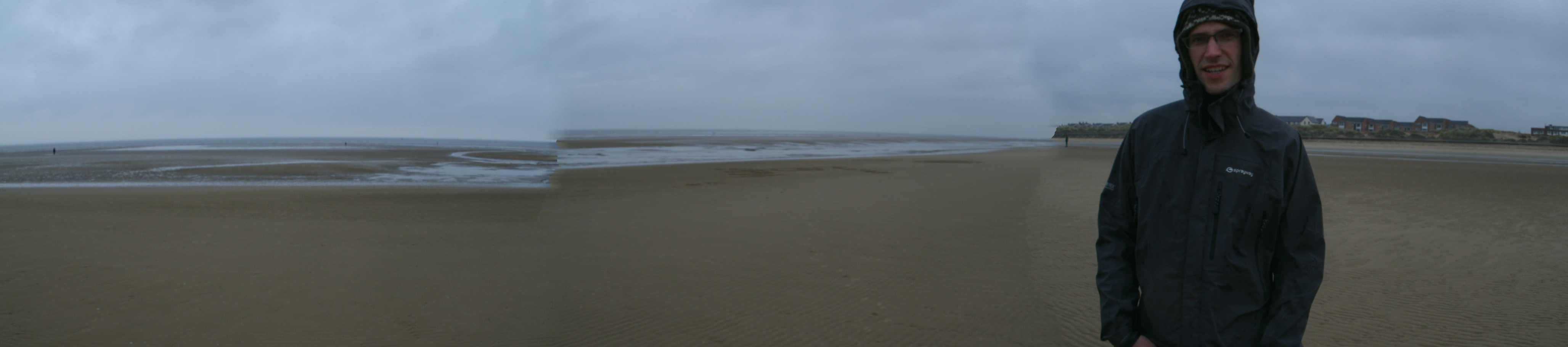 Aidan on the beach