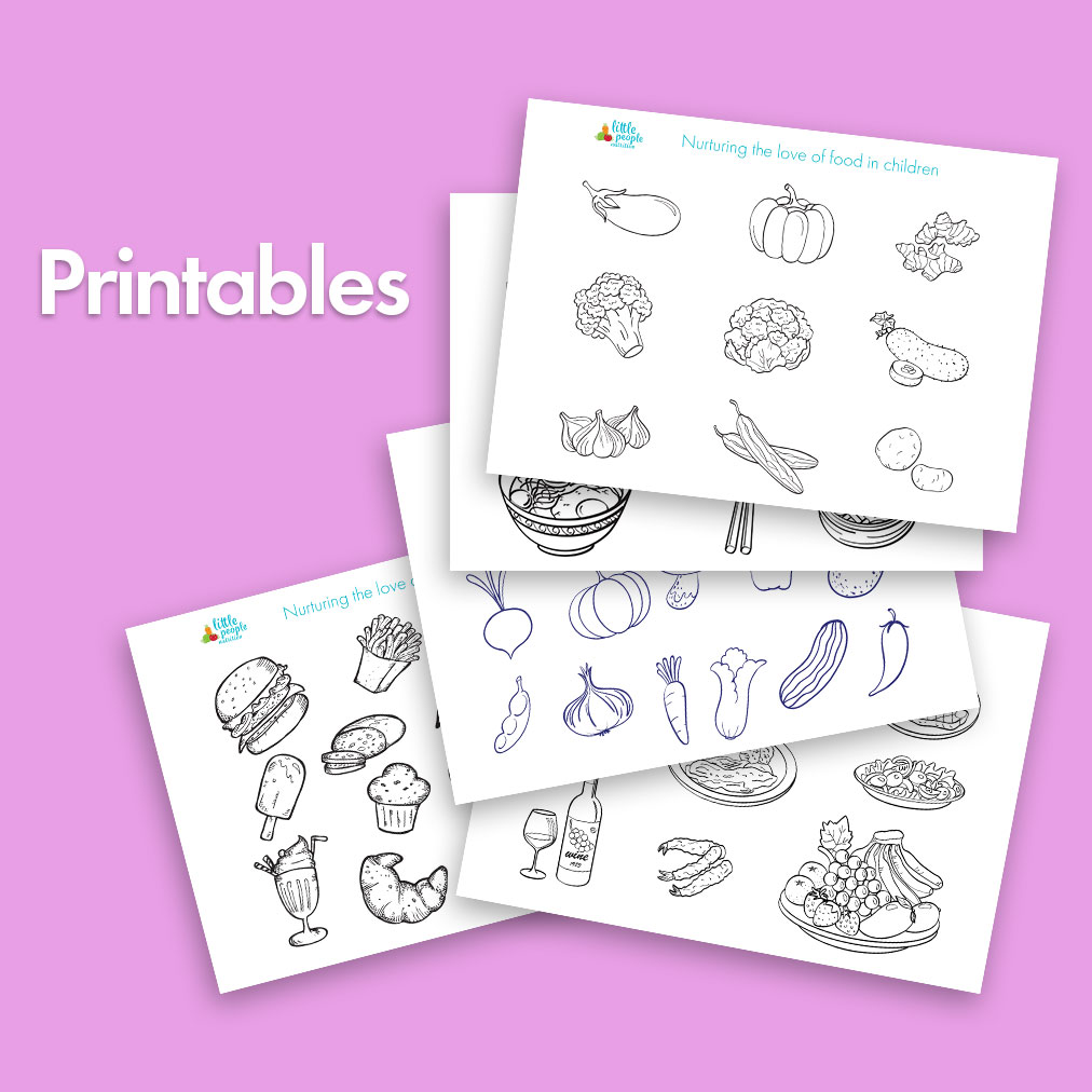 photograph regarding Printables Food identified as Absolutely free - Exciting meals colouring in just printables Tiny Humans