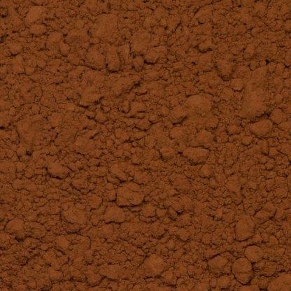 Close up of cocoa powder organic.