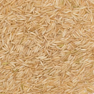 Close up of Basmati Rice Brown Organic