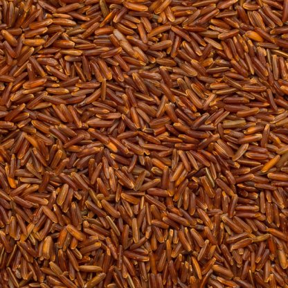 close up of Thai Red Rice Organic