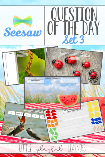 Seesaw Question of the Day: insect themed activities for distance learning or in the classroom