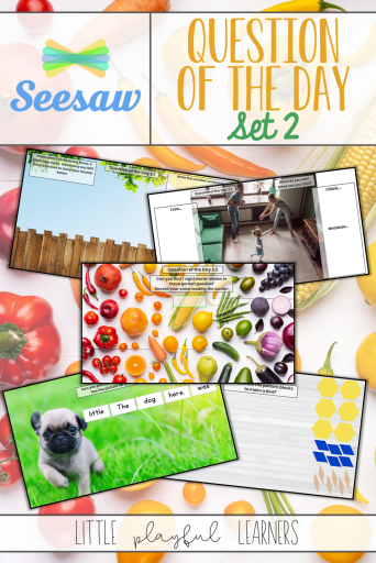 Seesaw Question of the Day: spring themed activities for distance learning or in the classroom