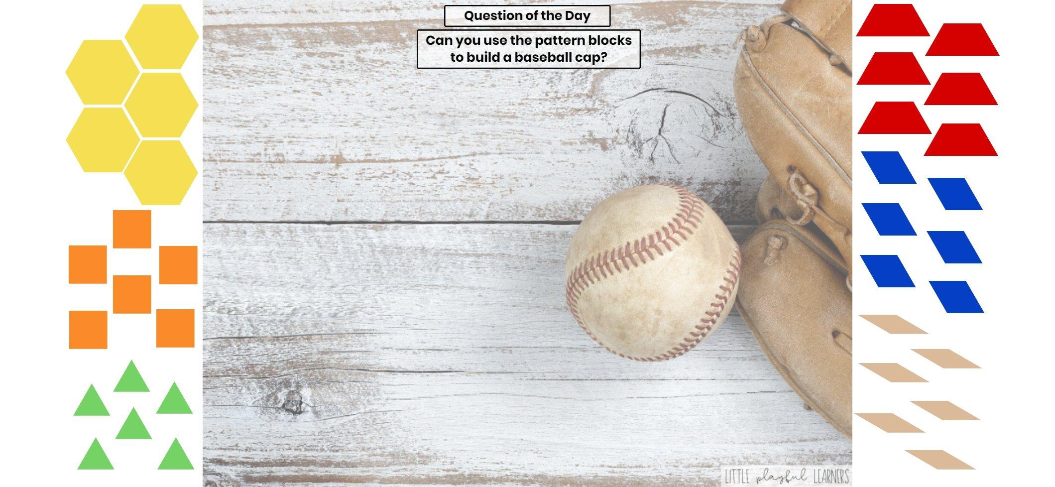 Seesaw: Pattern block challenge - baseball theme