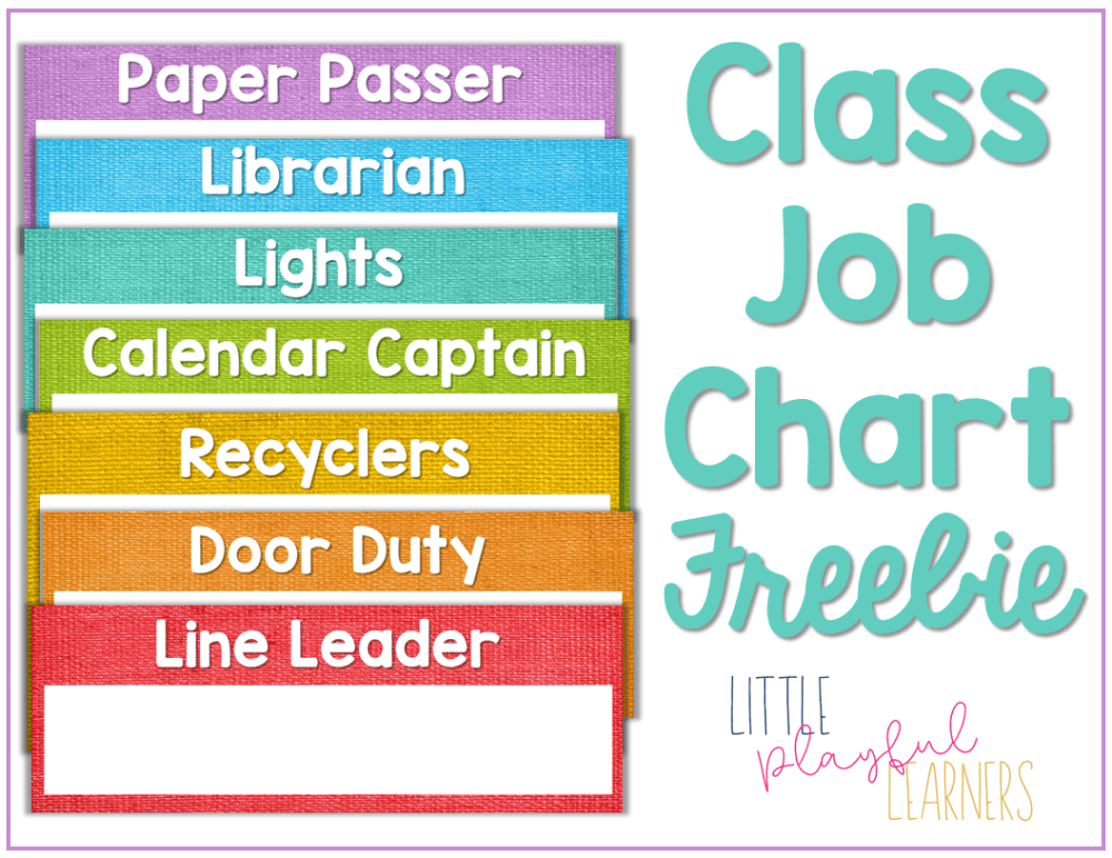 Class Job Chart Freebie - give your students a sense of ownership in the classroom.